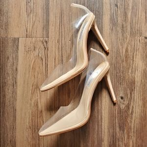 Steve Madden | Clear Pointed-Toe Pumps
